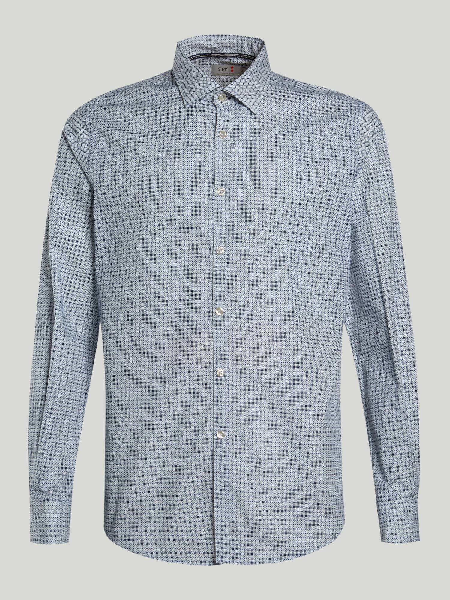Shirt A149 - Blanco / Azul Marino