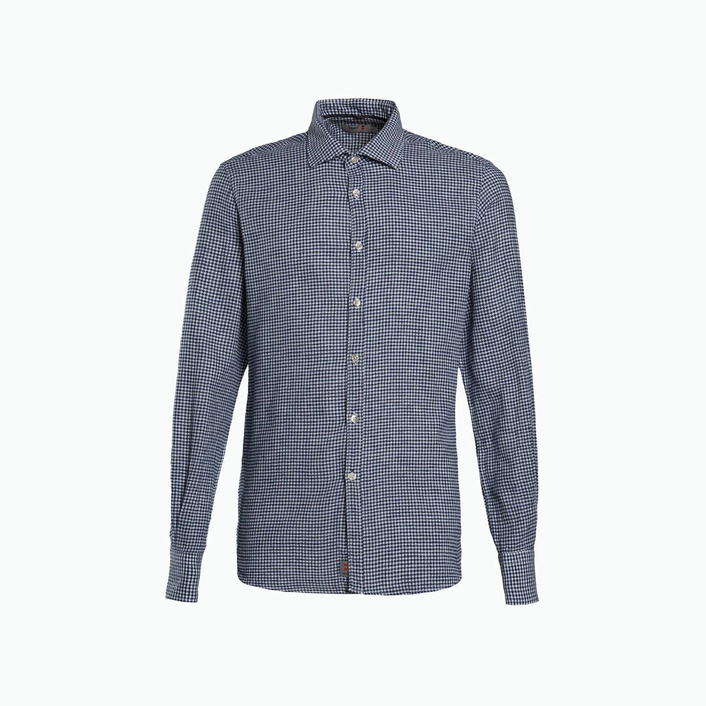 Shirt A197 - Blanco / Azul Marino