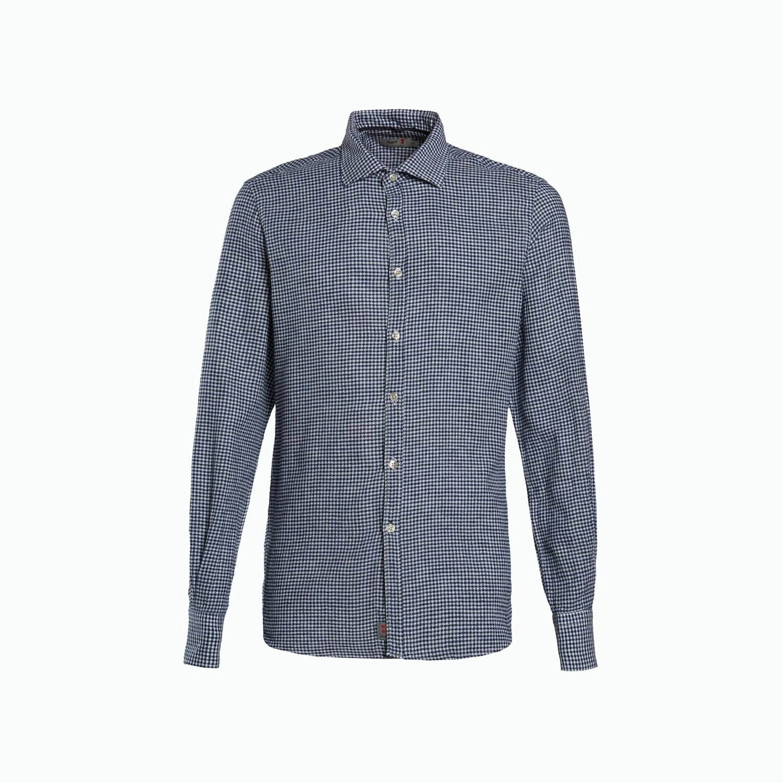 Shirt A197 - White / Navy