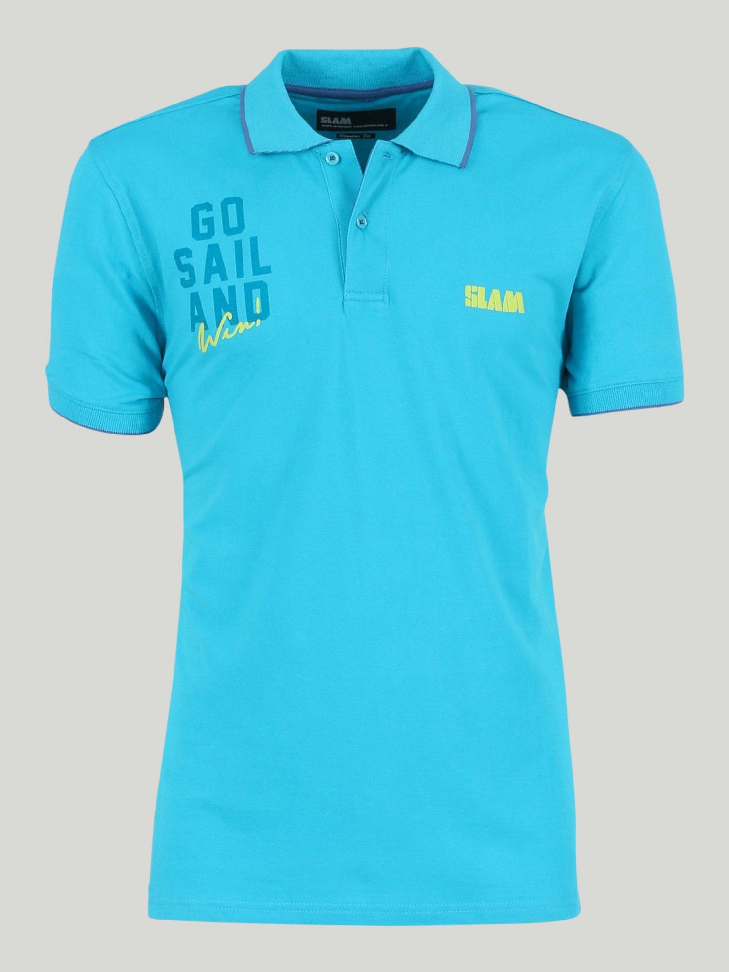 Polo Moonshine - Azul Caribe