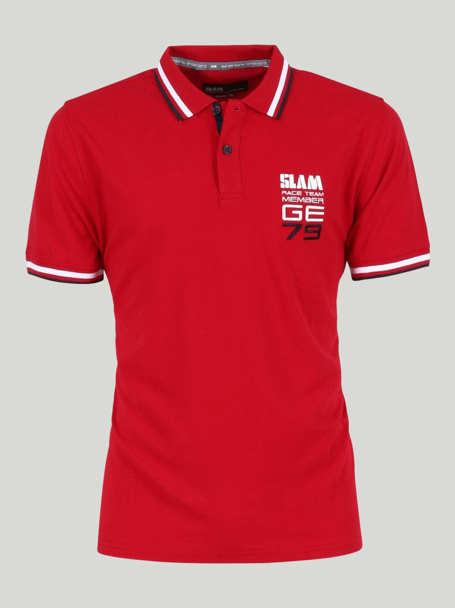 Genoa 2.1 Embroidery polo shirt  - Chili Red