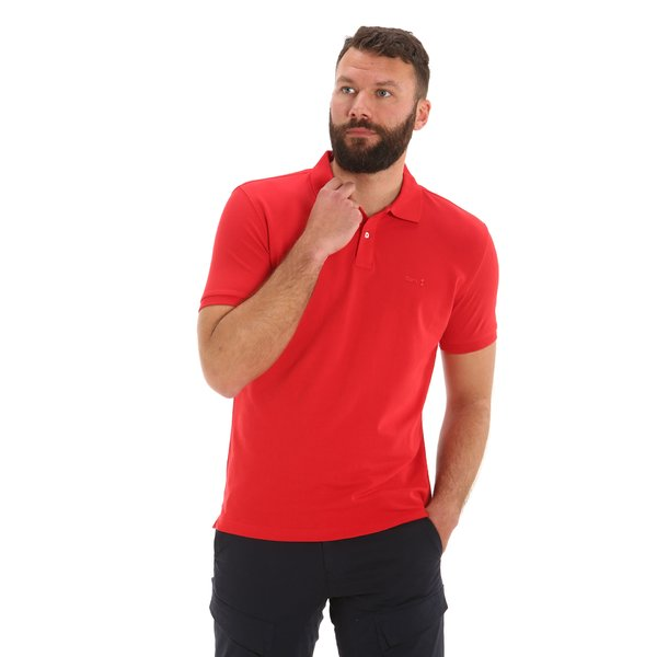 New Caboose men's polo shirt in two-button cotton