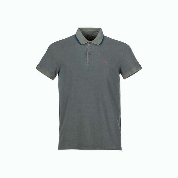 Polo Uomo C251 con bordatura navy sul colletto