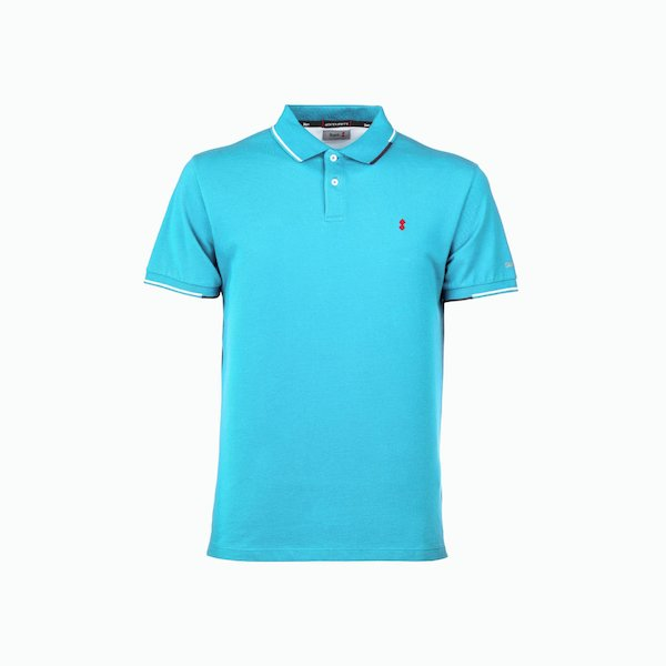 New Stern Men's Polo Shirt in Cotton with two-tone borders