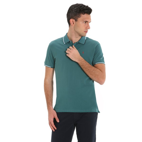Stern New men's short-sleeved cotton polo shirt with logo