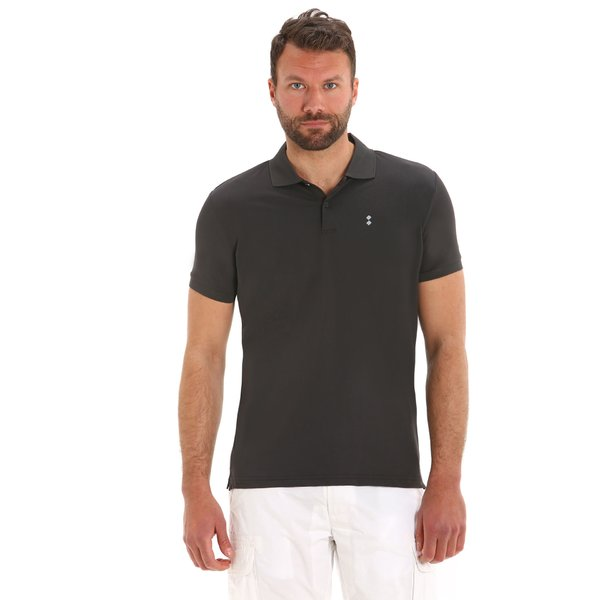 E70 men's short-sleeved polo shirt in technical nylon pique