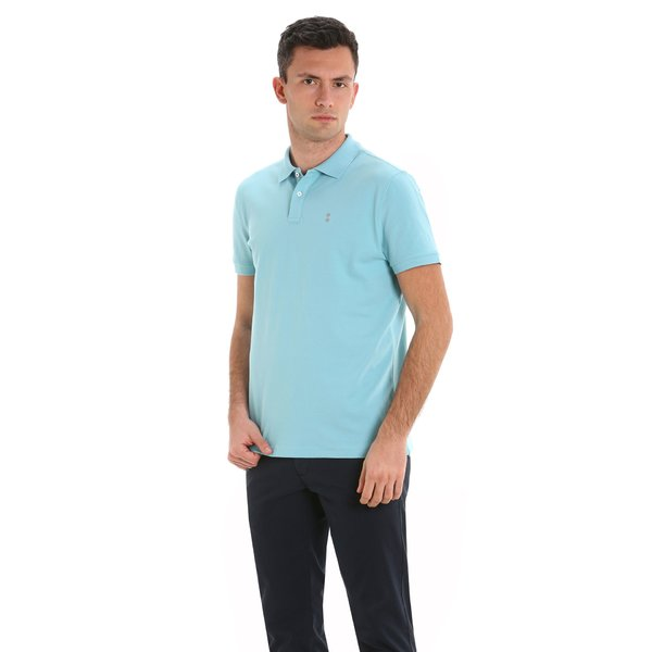 G89 men's short-sleeved polo shirt with logo on the chest