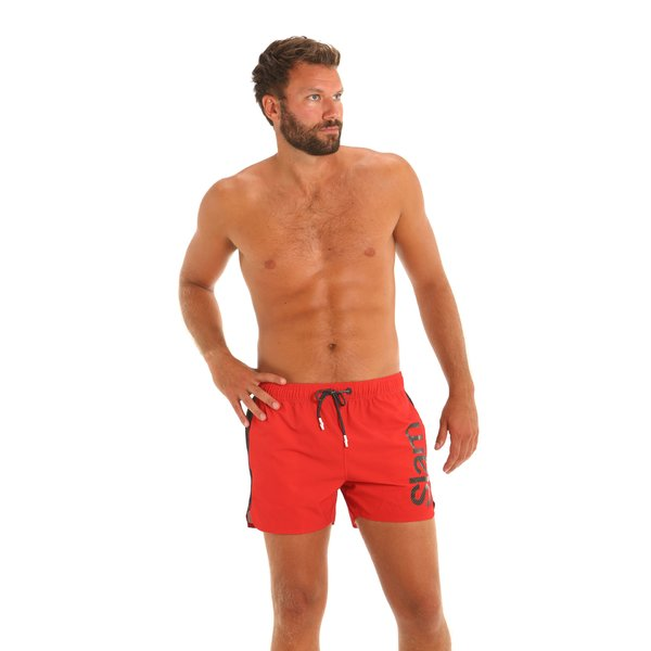 Herren-Badehose E162 als Boxershorts mit seitlichen Taschen