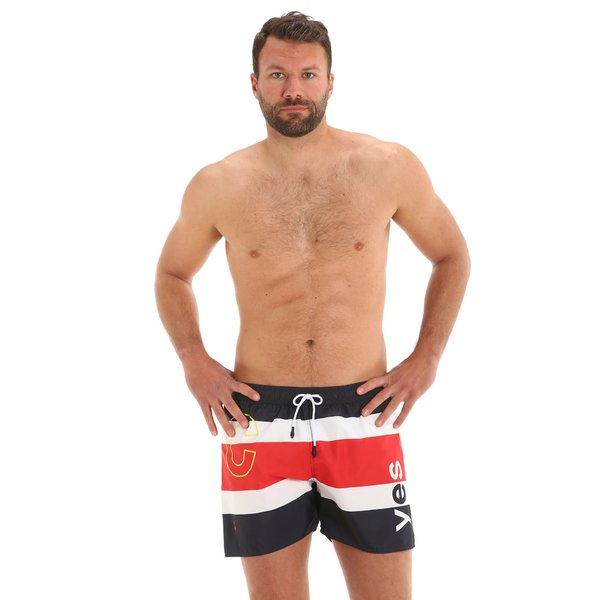 G167 men's swim trunks with elastic drawstring