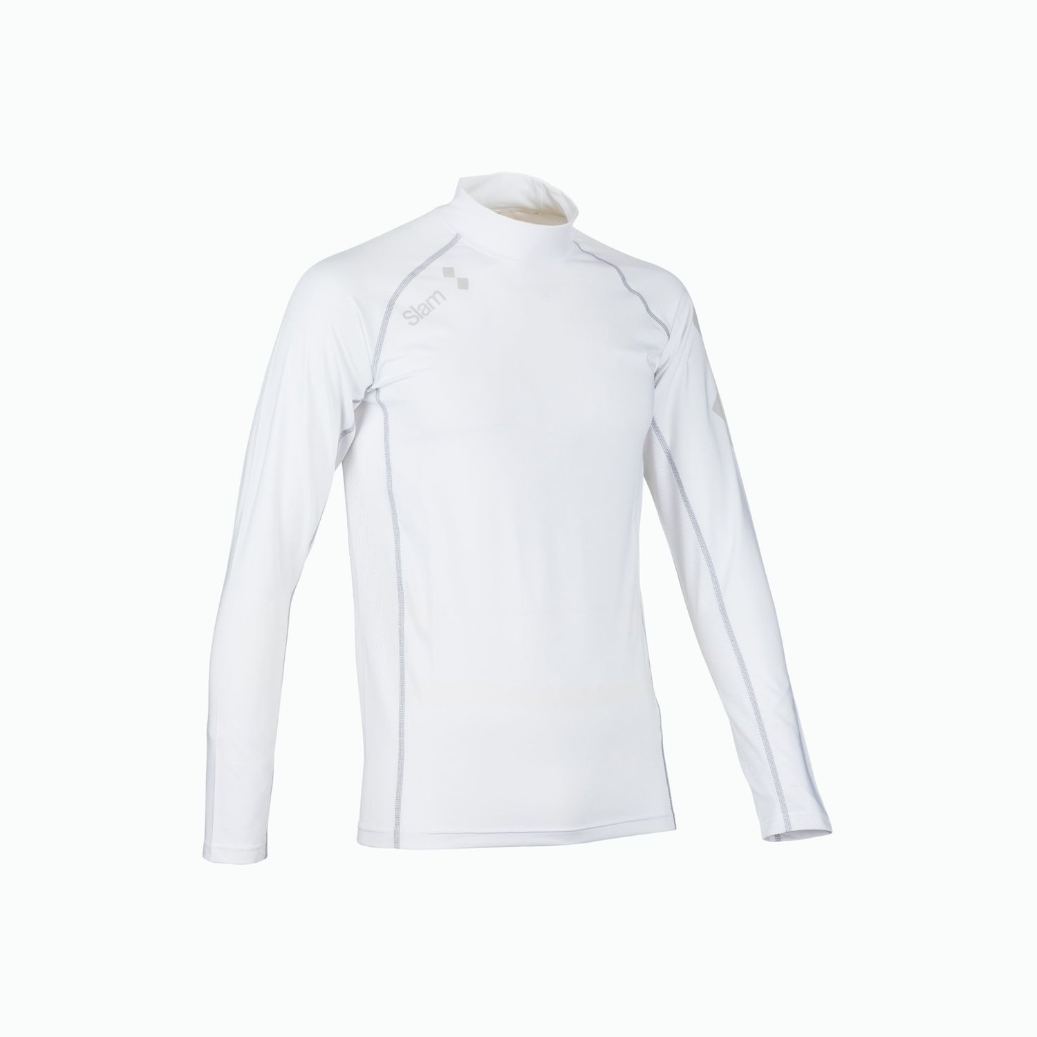 Anti Uv Lycra Top Ls - Bianco