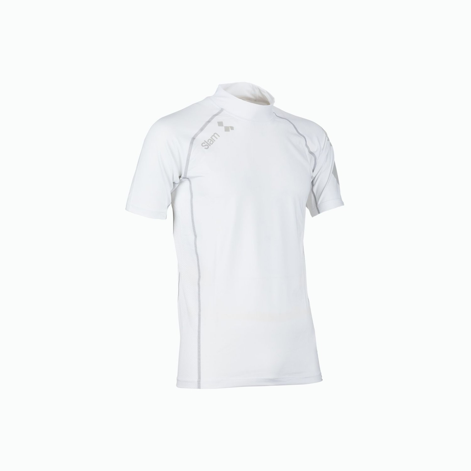 Anti Uv Lycra Top Ss - Bianco