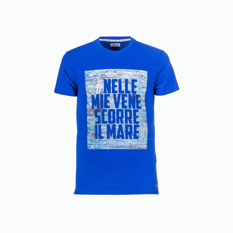 T-Shirt C166 - Blu marino