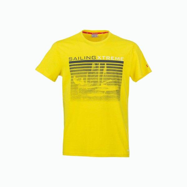 Camiseta hombre C180 de algodón con el esquema de color vintage
