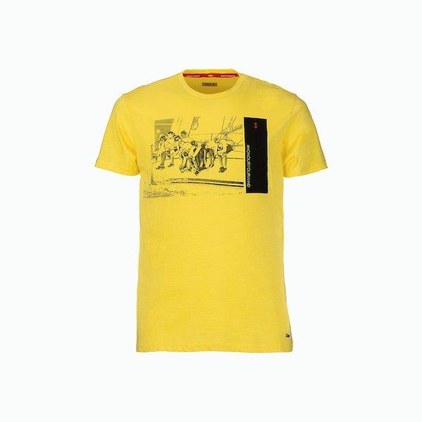 Camiseta hombre C181 de algodón estilo vintage