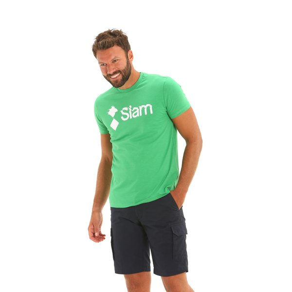 Kurzärmliges Herren-T-Shirt E112 mit Rundausschnitt aus Baumwolle.