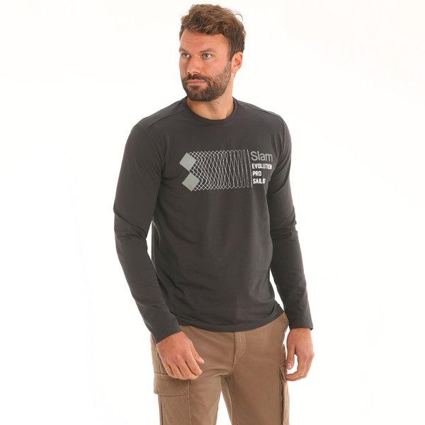 T-shirt uomo F127 a manica lunga in cotone elasticizzato