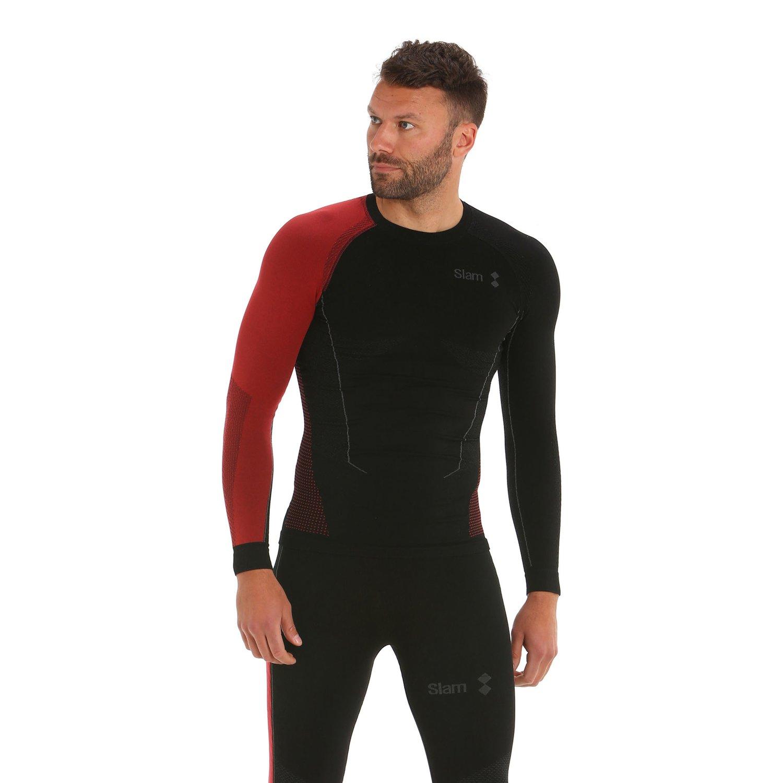 T-Shirt Maniche Lunghe Win-D Thermal Heat Top - Nero