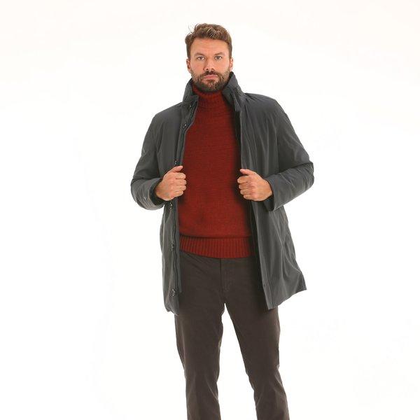 Giaccone uomo New Gardner in tessuto Maxland® con cappuccio