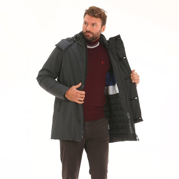 Cappotto uomo D01 uomo in tessuto Maxland® con cappuccio