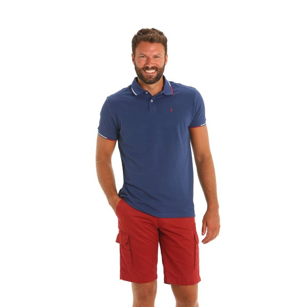 A82 men's bermuda cargo in stretch Cotton
