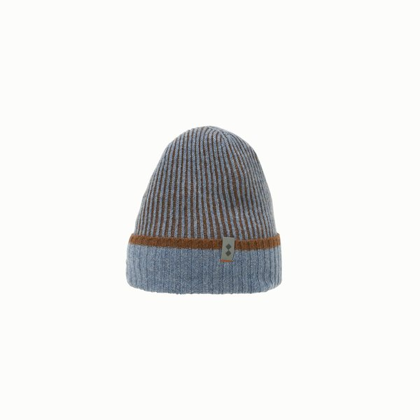 Cappello uomo F419 in misto lana a coste