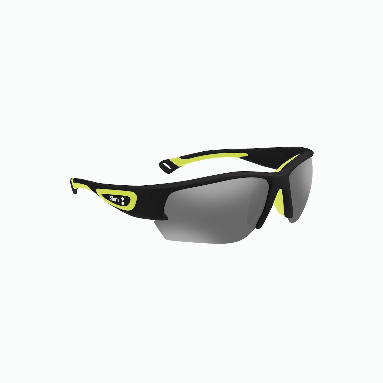 Racer Sunglasses - Negro / Lima / Gris Sombreado