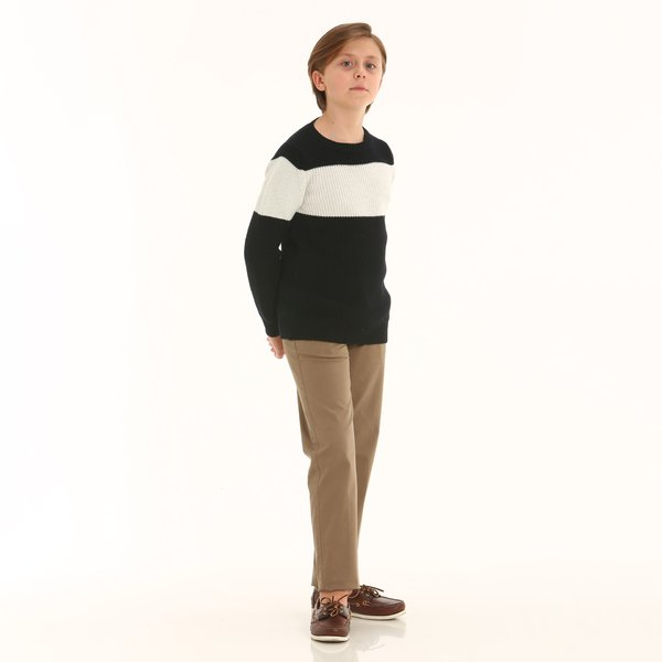 Pantalone chino junior D399 in stretch twill di cotone
