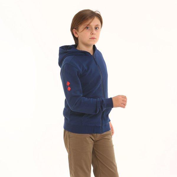 Sudadera niño D195 con cremallera en algodón
