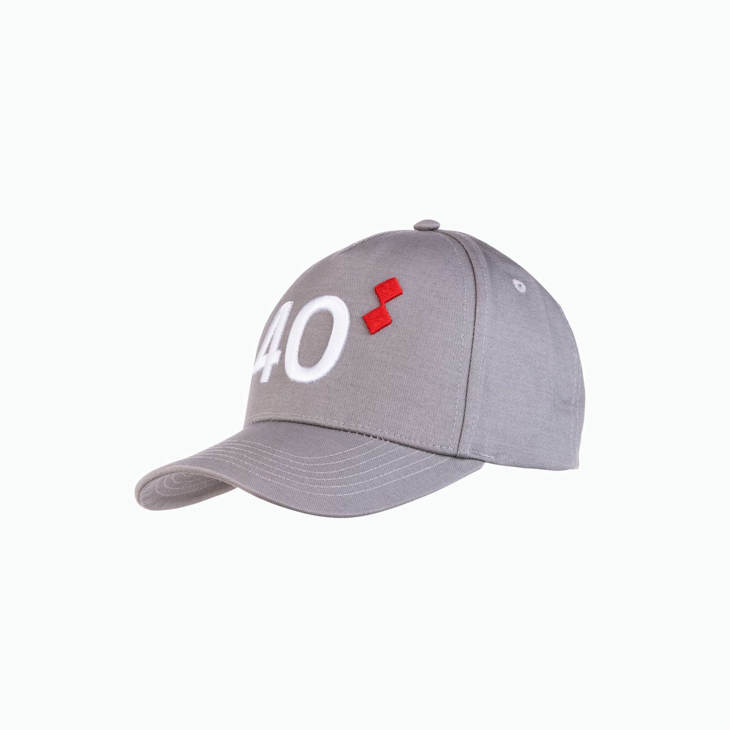 40th 1 Cap - Grey