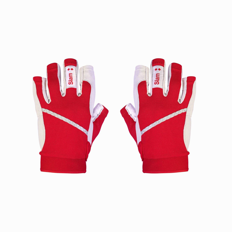3/4 length finger gloves - Red