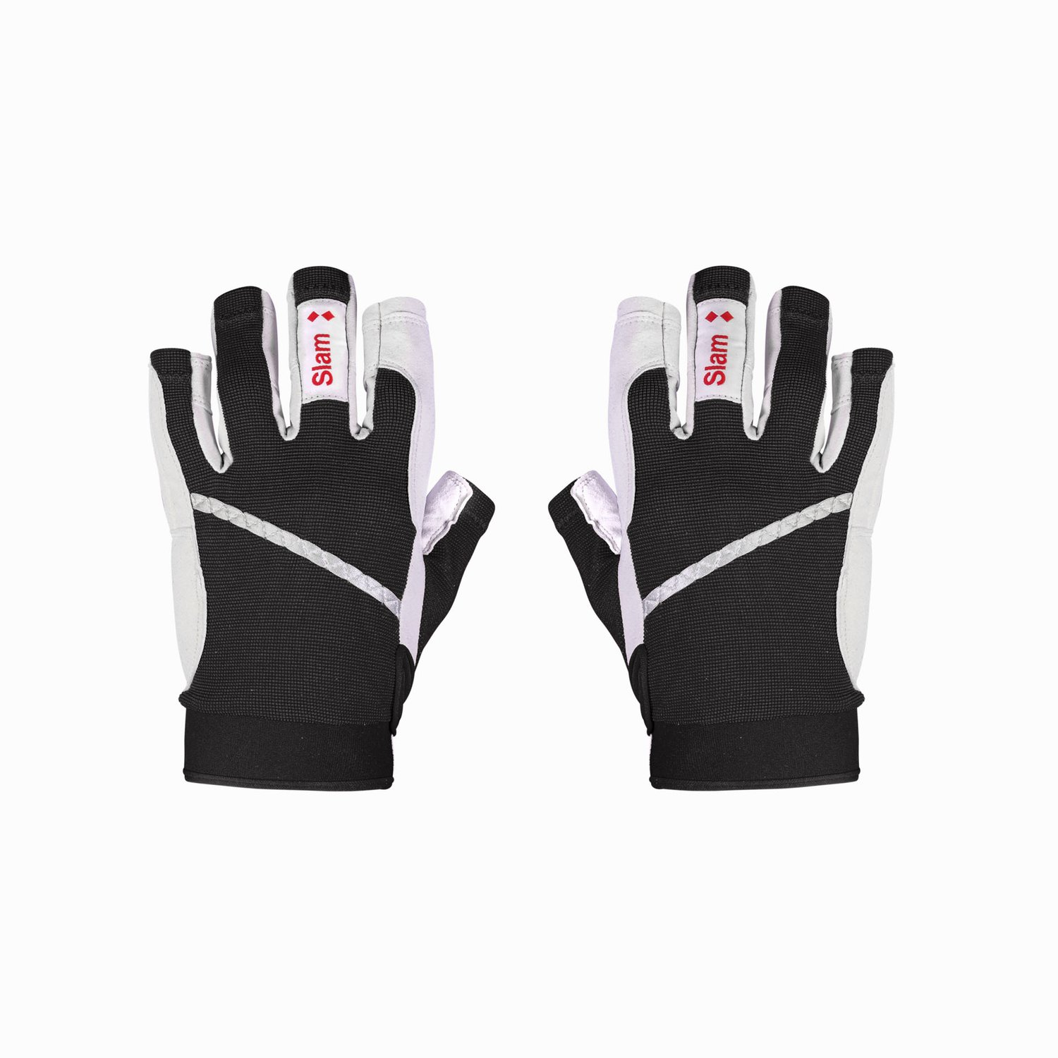 3/4 length finger gloves - Black