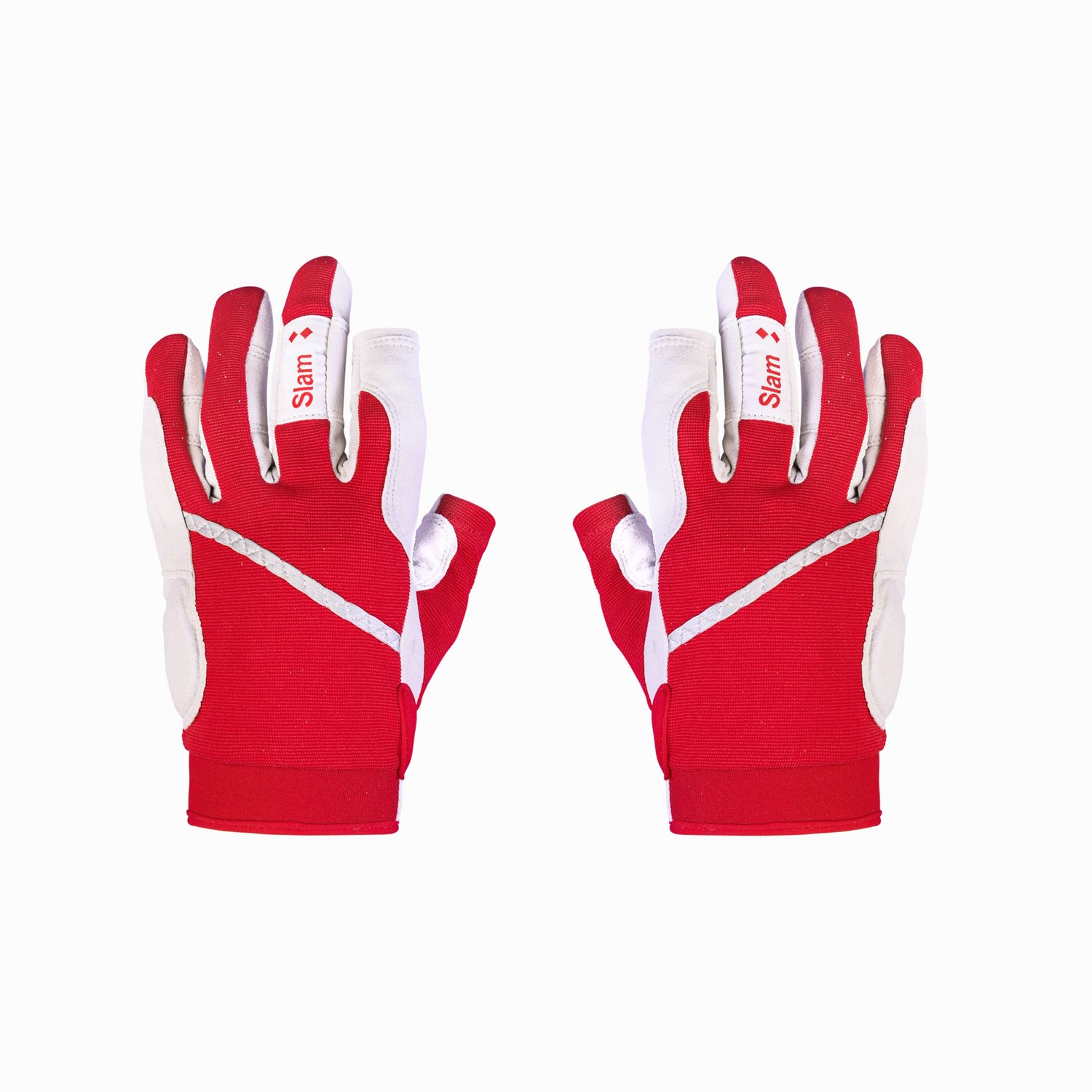 LONG FINGER GLOVES - Red