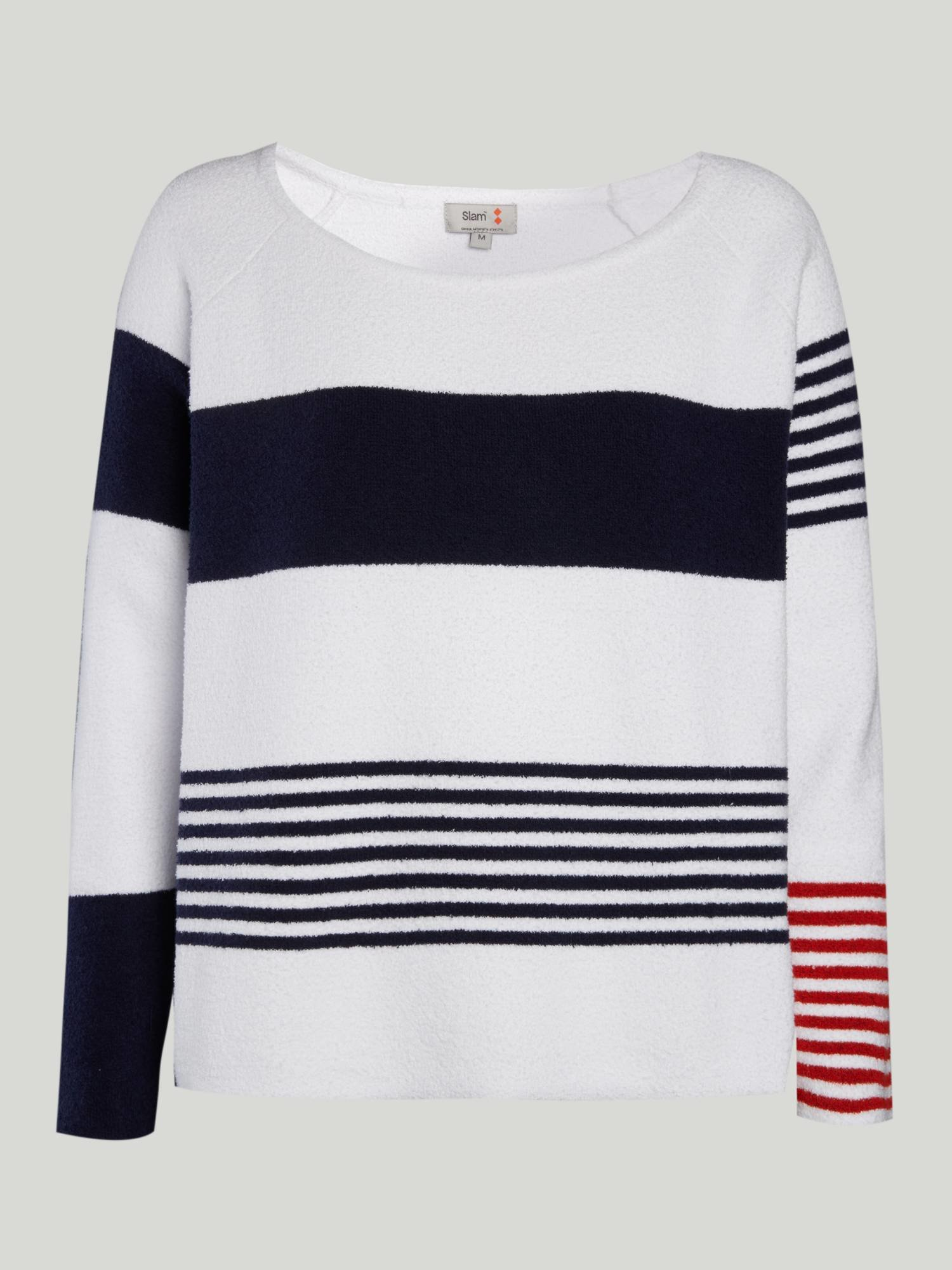 Jumper A164 - White / Navy