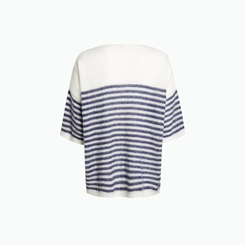 Suéter B115 - White / Navy