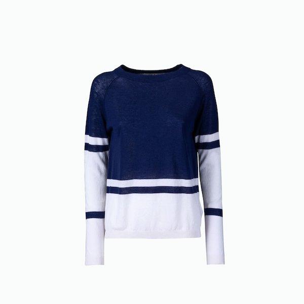 Suéter de mujer C159 con gran cuello de barca