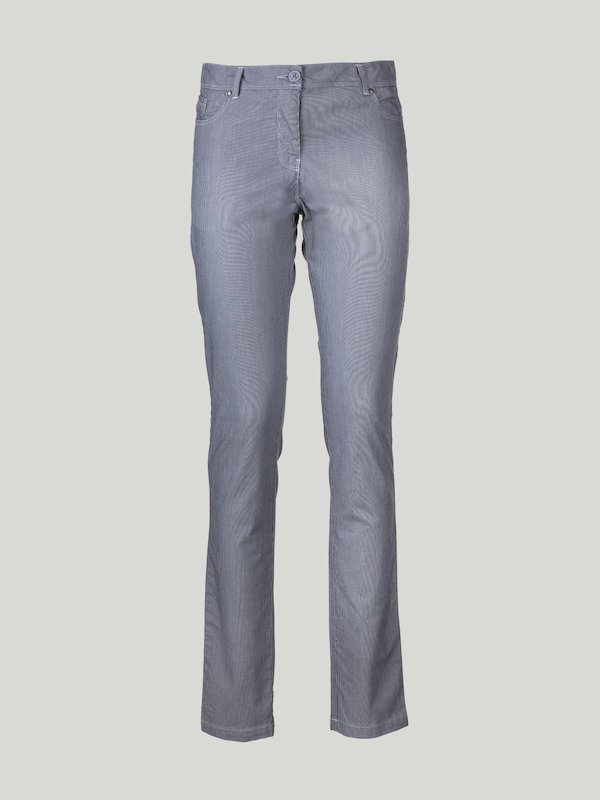 C66 women's trousers in elastic cotton with five pockets