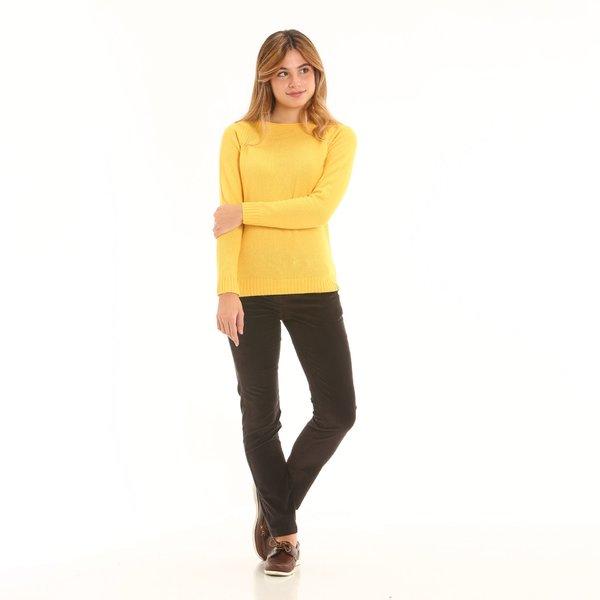 Pantalone donna chino F284 in velluto a coste elasticizzato