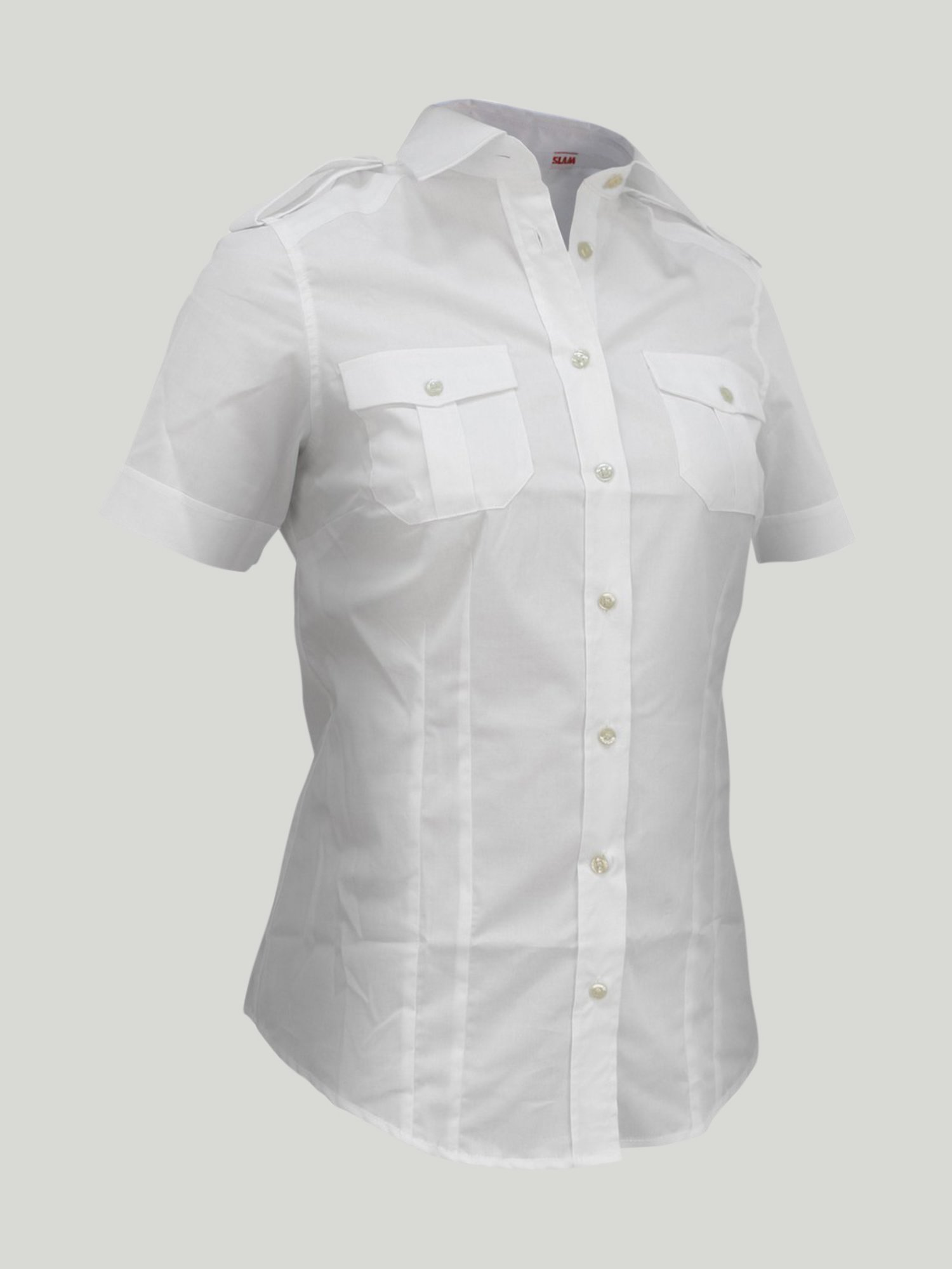 PRE-OWNED Boys Banner White Collared Button Up Shirt Size 26 Inches