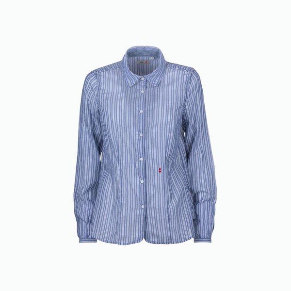 Camisa mujer C02 de algodón de rayas