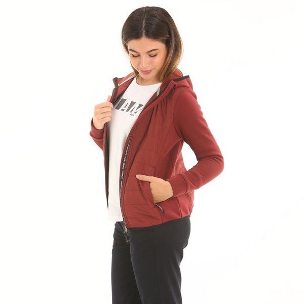 Suéter mujer F249 con cremallera y capucha