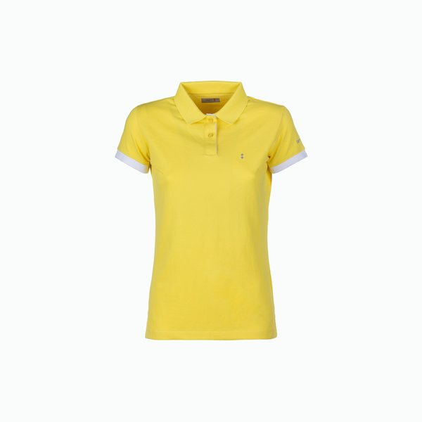 Women's polo shirt C128 in two-button stretch cotton