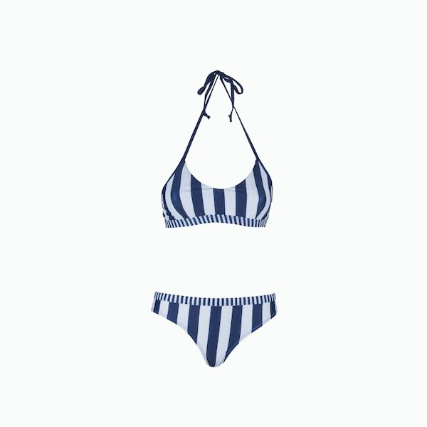 Two piece striped swimsuit Woman C152