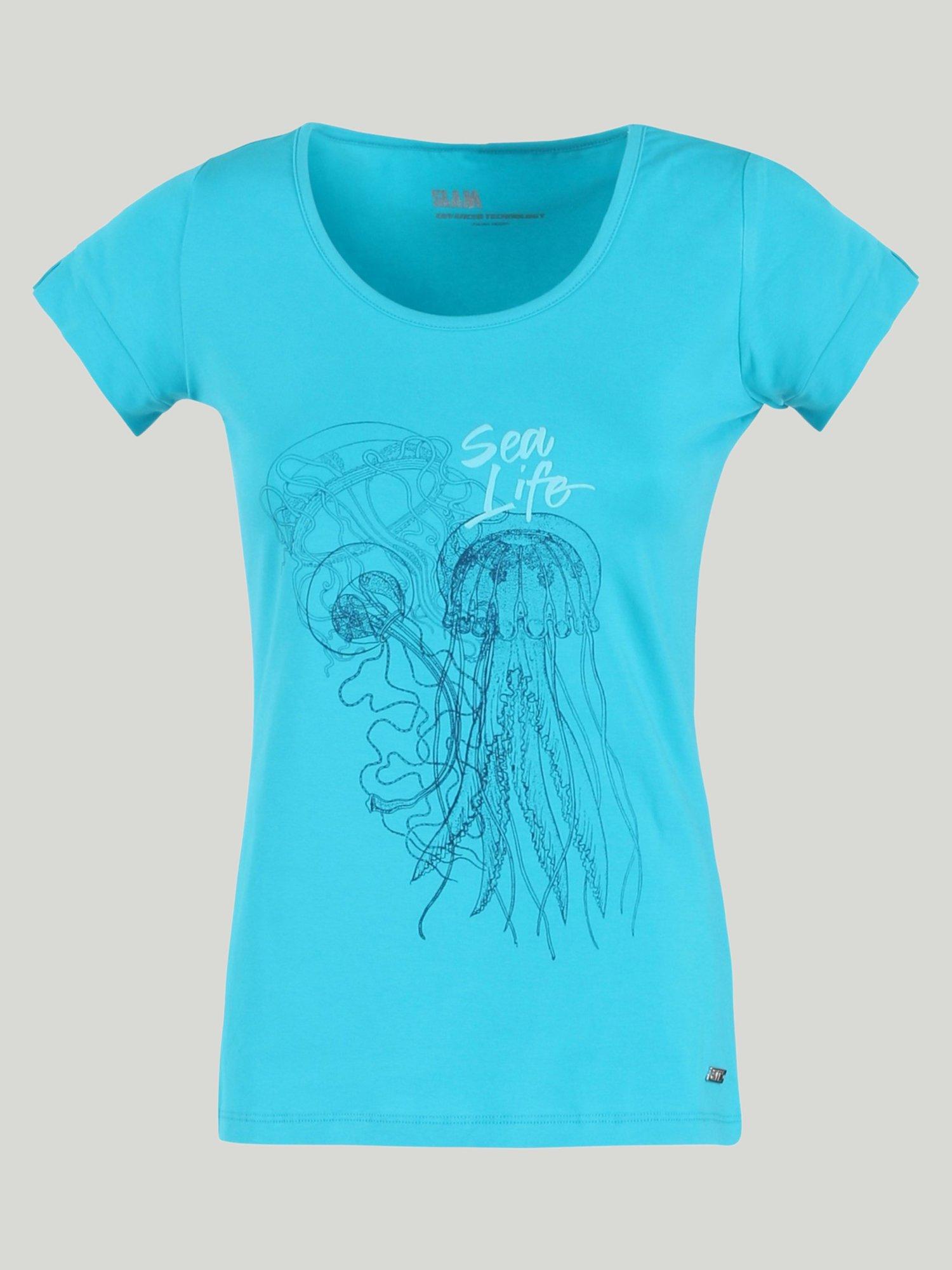T-Shirt Holly - Blu Caraibi