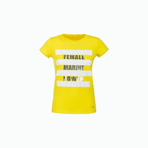 Camiseta mujer C184 de manga corta por la mitad del hombro