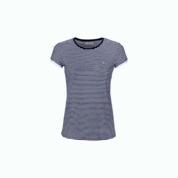 C189 Striped crew-neck women's t-shirt
