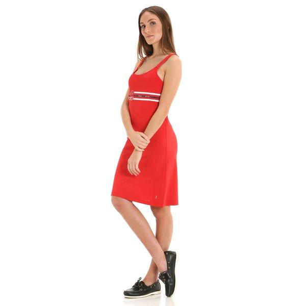 Damenkleid G277 mit Segelmotivaufdrucken