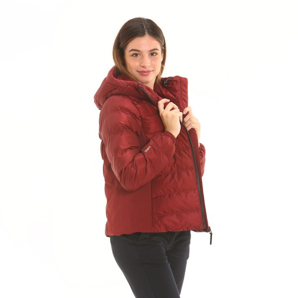 Women's jacket F221 in tear-resistant ripstop nylon with hood