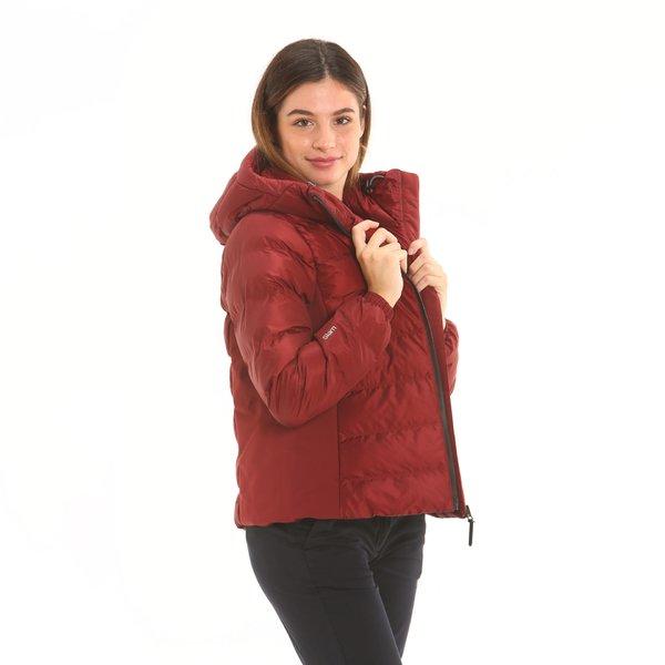 Chaqueta mujer F221 en nailon ripstop con capucha