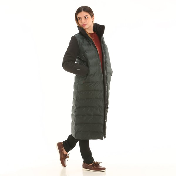 Women technical overcoat F203 in  tear-resistant nylon