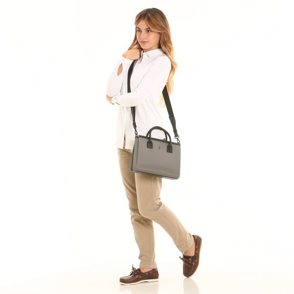 D923 women's bowler bag with detachable shoulder strap